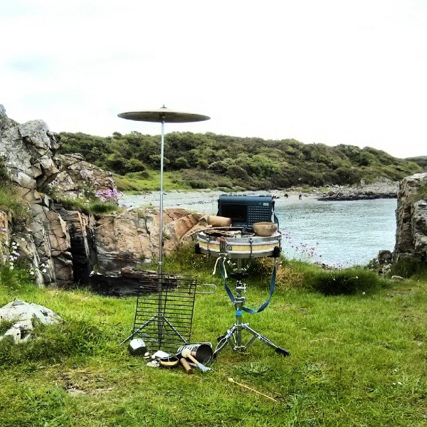 Audio recording equipment by the sea