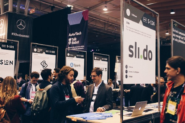 Slido stand at Web Summit 2017