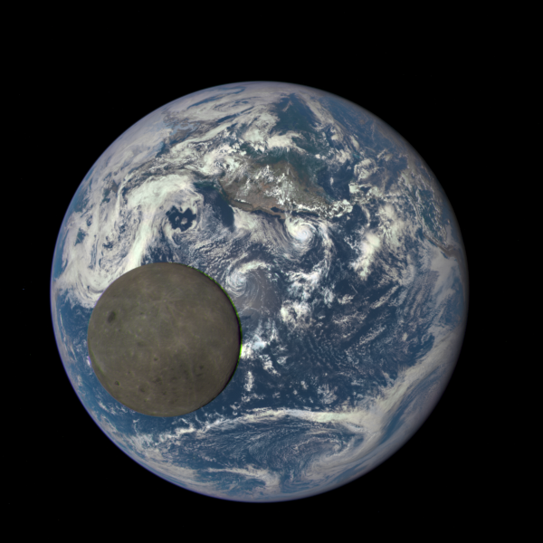 Picture by [DSCOVR satellite](http://phys.org/news/2015-08-million-miles-nasa-camera-moon.html) and yes, that is a moon. Credits: NASA/NOAA