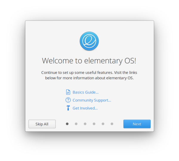 Welcome to elementary OS