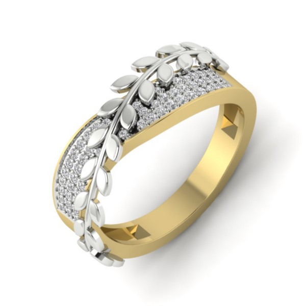 Set in 18k Yellow Gold (4.6 gm) with Diamond (0.38 carats, IJ-SI)