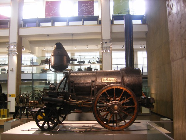 Early and marvellously innovative train [Stephenson's Rocket](https://en.wikipedia.org/wiki/Stephenson%27s_Rocket) on display in London's [Science Museum](http://www.sciencemuseum.org.uk). Image by [Paul Williams](https://www.flickr.com/photos/bluelemur/) CC-SA-2.0.