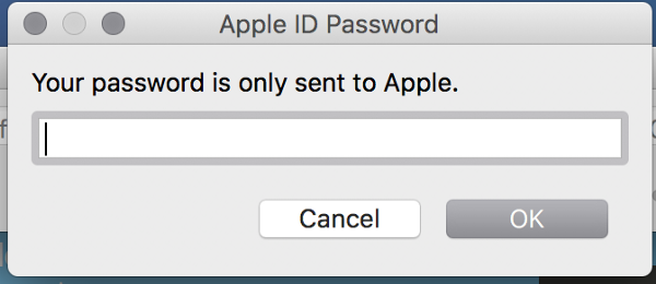 Enter your Apple id credentials.