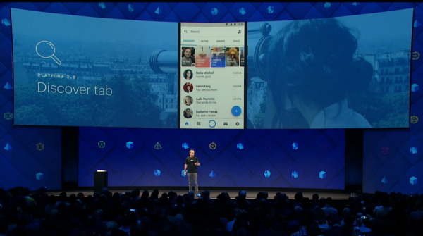 discover tab - messenger