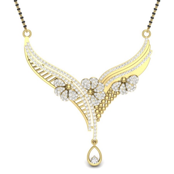 Set in 18k Yellow Gold (6.8 gm) with Diamond (1.70 carats, IJ-SI)