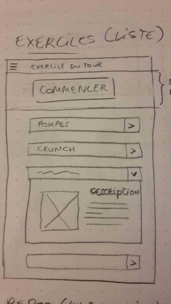 Image des wireframes d'exercices