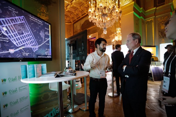 Aclima Chief Creative Officer, Reuben Herzl, at the Bloomberg Local Leader Summit on Climate in Paris.