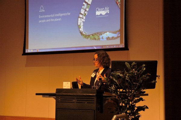 Aclima Chief Scientist delivering the keynote speech at a Clean Air Carolina event.
