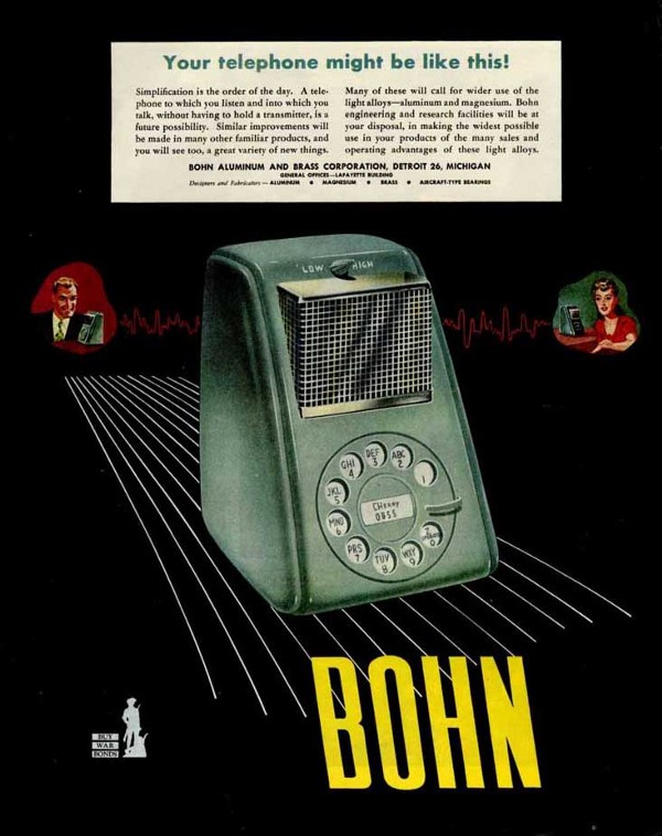 """Your Telephone Might Be Like This!"" Arthur Radeburgh for Bohn, 1947."