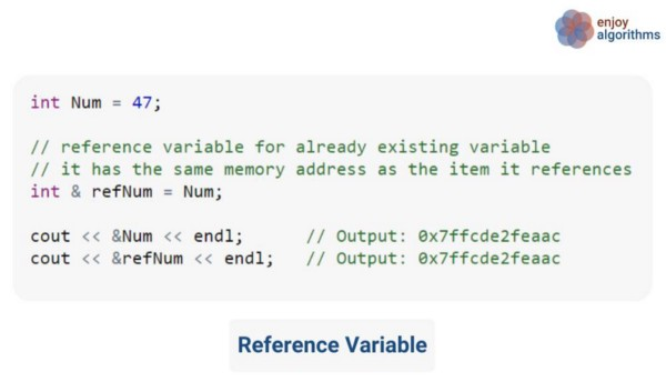 reference variable code example in c++