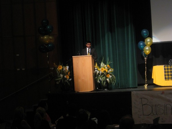 President's Address at Business Celebration Night 2013—I presented my work to the school's business community!