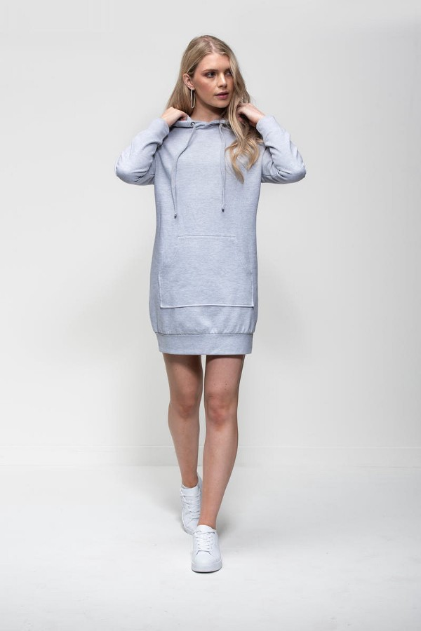 Print-on-Demand Hoodie Dress on AOP+