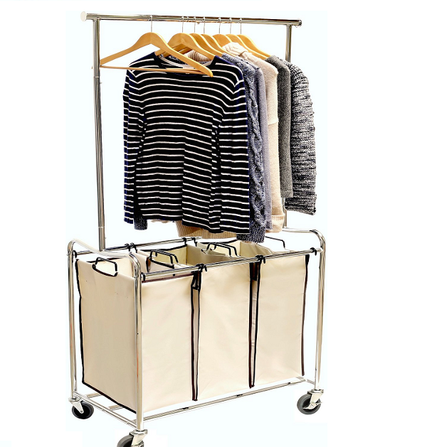 Top Rated Heavy Duty Laundry Sorter Carts with Wheels for Home Use