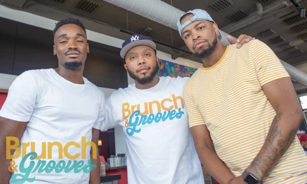 Founder of Brunch & Grooves, Don Butler (middle)