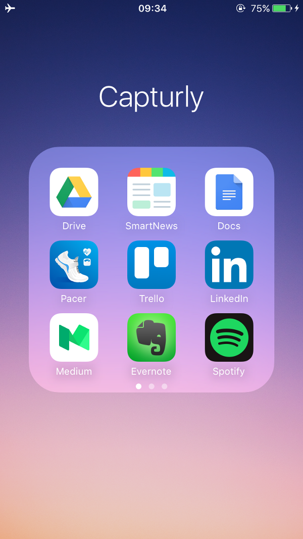 The apps used by Capturly