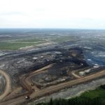 Petro canada's Fort Hills tar sand pits