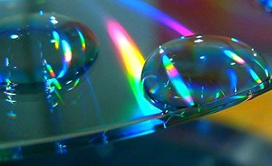 Light refracting off a compact disc