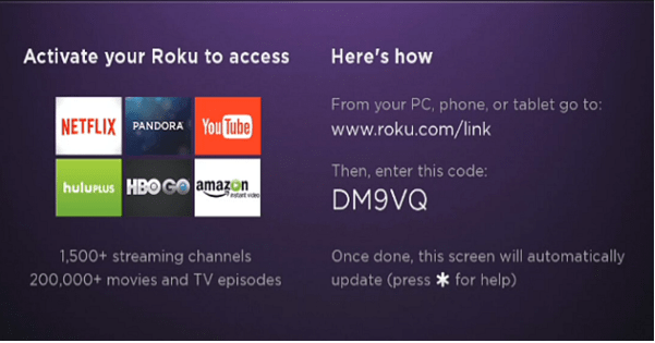 roku activation code not working
