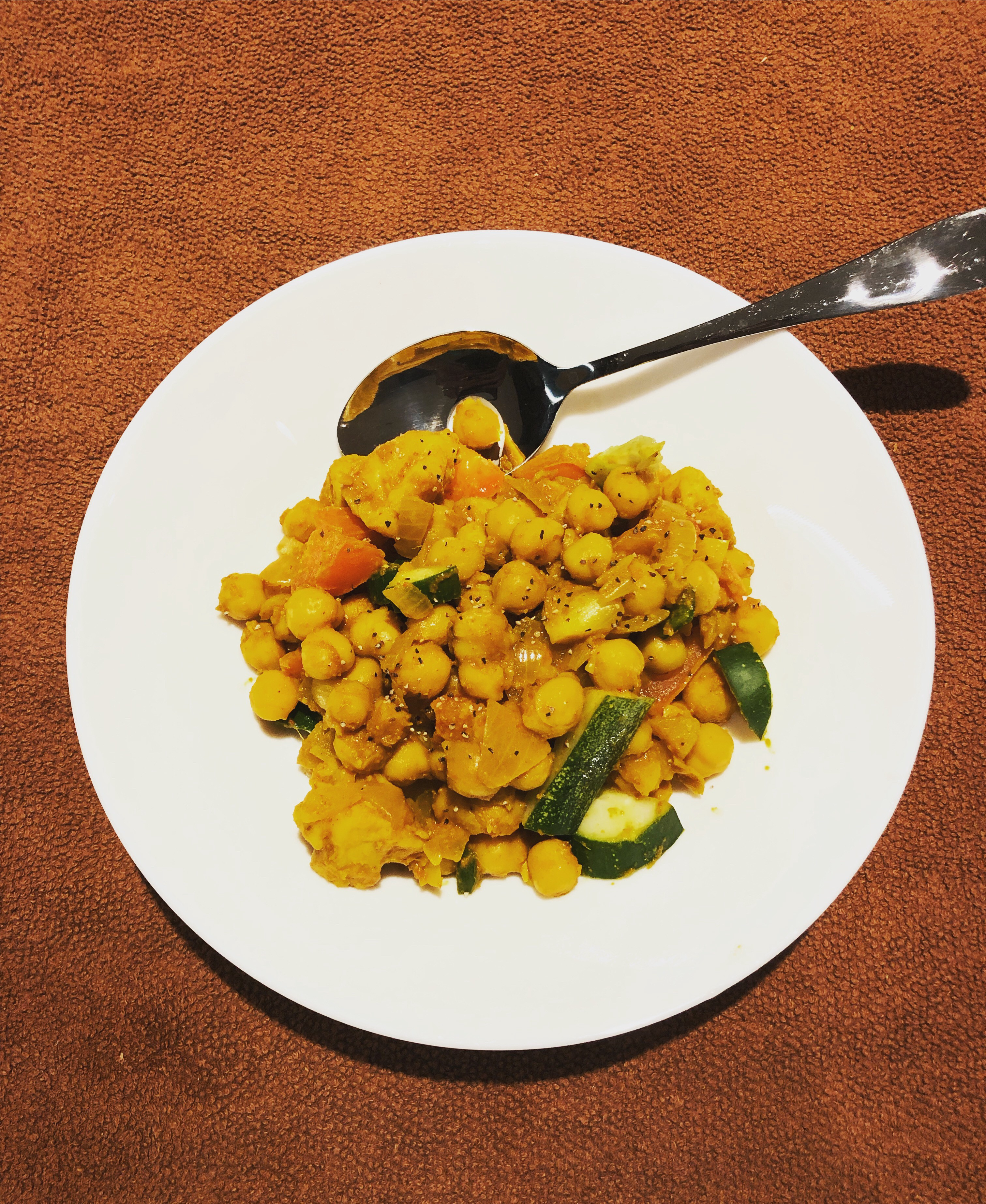 quick n easy chickpea (with curry)