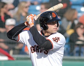 Former SJ Giant Mac Williamson homered twice in San Francisco's spring training game last Friday