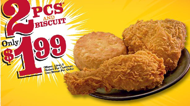 popeyes $1.99 deal: 2 pieces and a biscuit – shabooty - howard