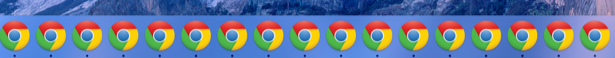 lots and lots of chrome icons