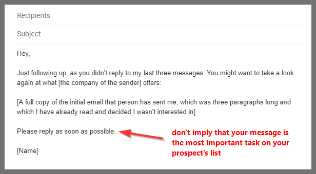 6 follow up email samples to use after you get no response