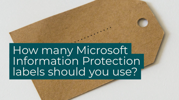 How do you know how many labels to use when implementing Microsoft Information Protection (MIP)?