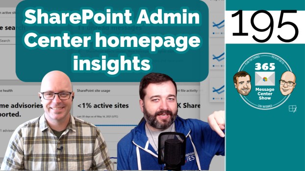 SharePoint admin center: New homepage insights dashboard