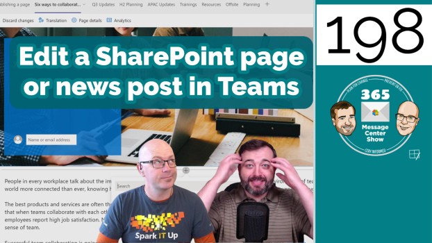 Edit a SharePoint page or news post in Microsoft Teams