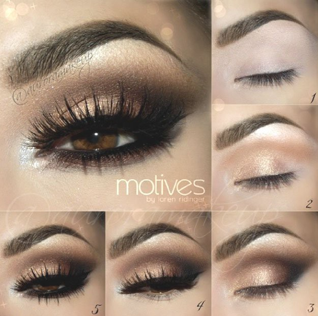 Gold Smokey Eye Eyeshadow For Brown Eyes