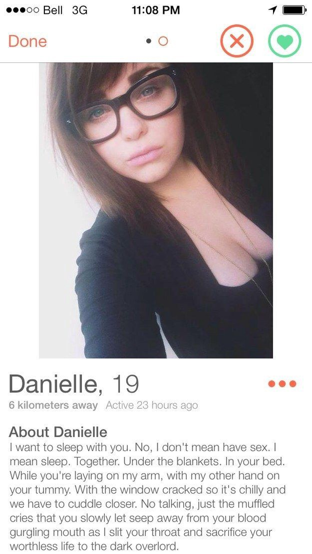 Witty taglines for tinder