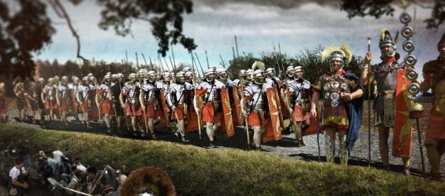 """Romans in Britain—image created by the British historical TV channel """"Yesterday"""""""
