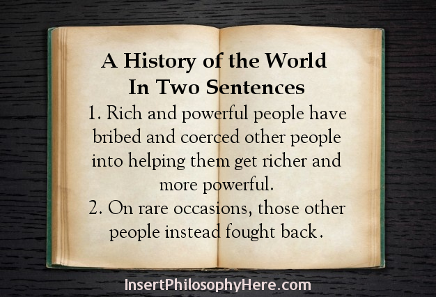 The History of the World in Two Sentences