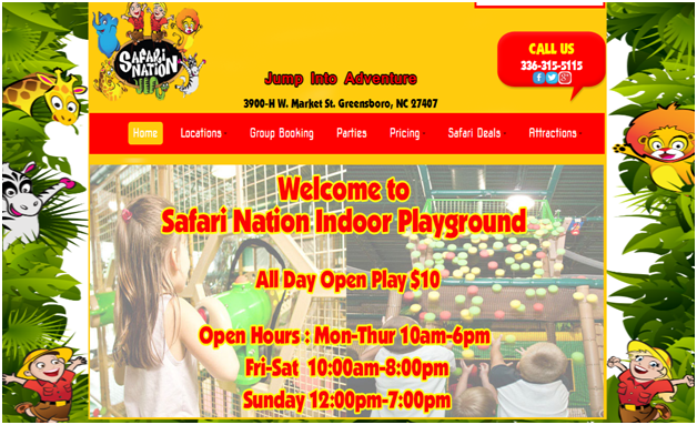 The Safari Nation Provide Best Kids Indoor Birthday Party Place In - Childrens birthday parties greensboro nc