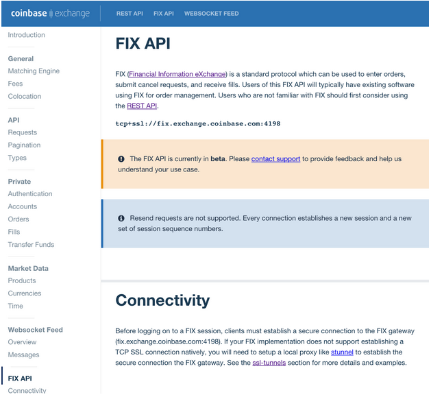 Coinbase Exchange Now Supports The FIX Protocol – The Coinbase Blog