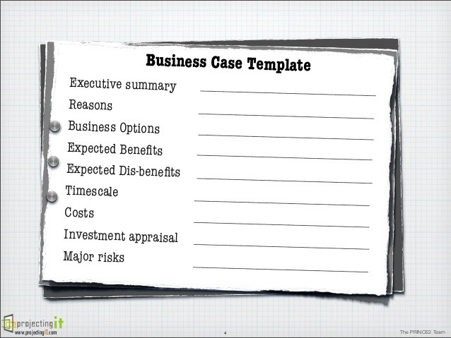 My product management toolkit 21 assessing opportunities 1 sample business case format taken from httpsslideshareprojectingitthe prince2 business case wajeb Images
