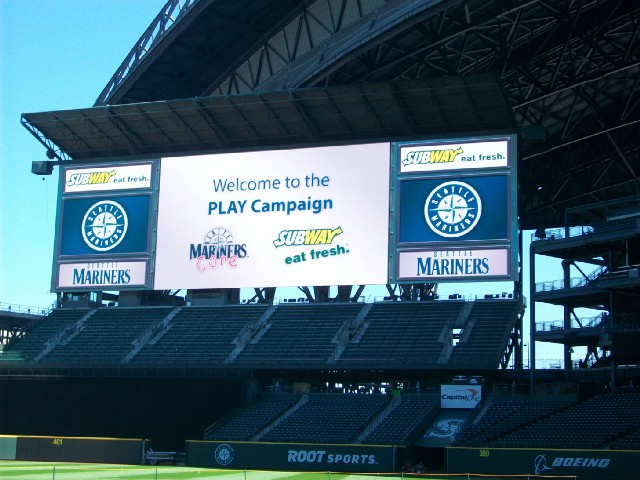 The Mariners hosted a PLAY Campaign event Tuesday at Safeco Field.