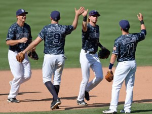 e5149969e The Padres clobbered the Diamondbacks 9–1 in the four game finale to take  the series 3–1. Again it was the youngsters doing most of the heavy lifting  with ...