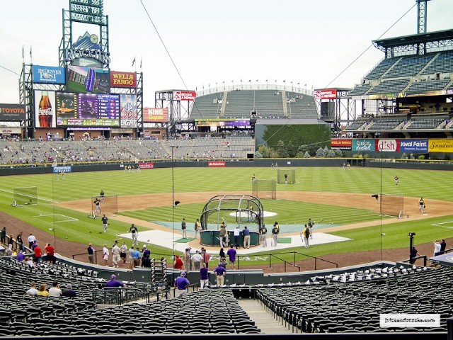 Coors Field, A's @ Rockies