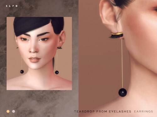 Yvmin Teardrop from Eyelashes Earrings for The Sims 4
