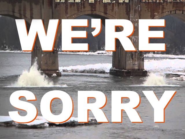 WERE SORRY