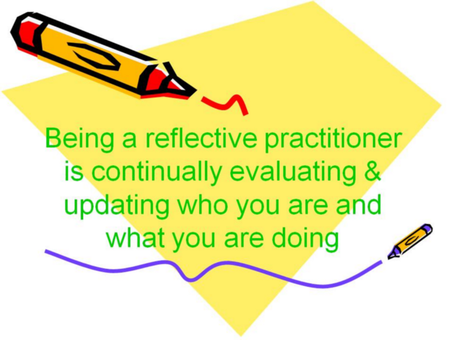 reflection on teaching practice essay Towards reflective teaching by jack c richards department of english, city polytechnic of hong kong  the focus of critical reflection is usually the teacher's own teaching, self-reflection can also be stimulated by observation of another person's teaching.