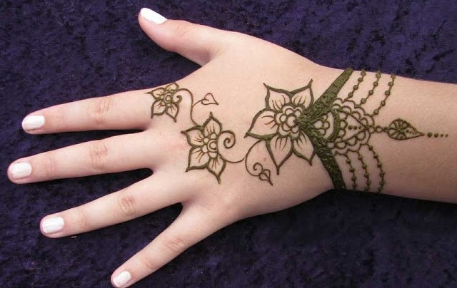 Mehndi Designs For Childrens Leg : Mehendi designs for kids hand giving them an exquisite look