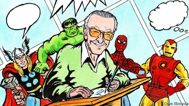 Stan Lee, the creator-writer of Marvel Comics' heroes and villains