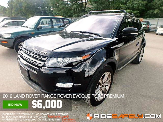 Shop For Used Salvage Land Rover Cars At The Online Car Auction