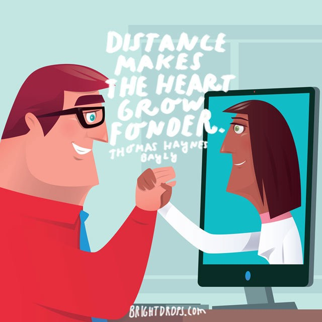 Long distance relationships and technology