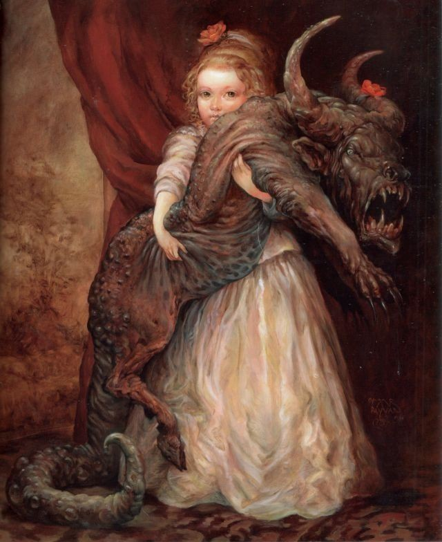 Image result for girl with monster dog painting