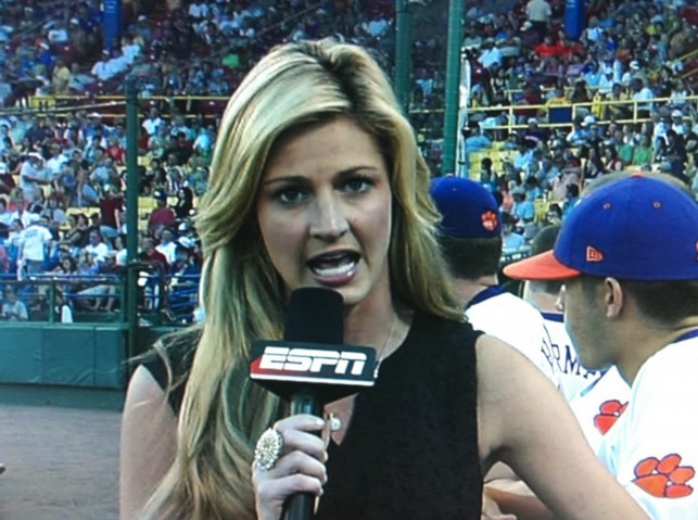 ESPN's Erin Andrews at the 2010 College World Series