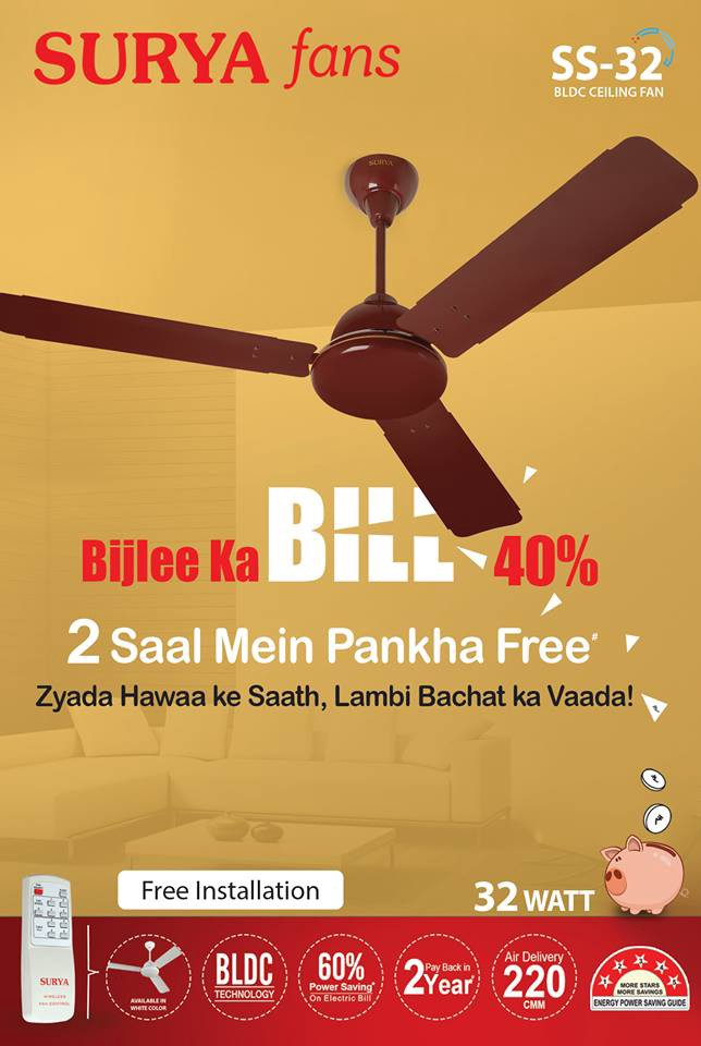Get The Best Bldc Ceiling Fan In India From Surya Roshni This Ss 32 Is A Motor Technology Which Makes It